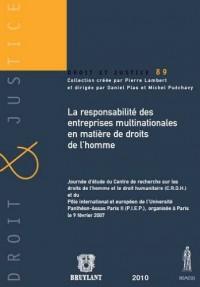La responsabilité des entreprises multinationales en matière de droits de l'homme