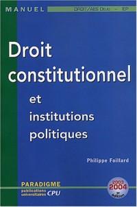 Droit constitutionnel et institutions politiques : DEUG Droit/AES