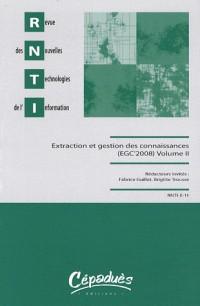 Rnti E11-Extraction et Gestion des Connaissances (Egc'2008) en 2 Tomes