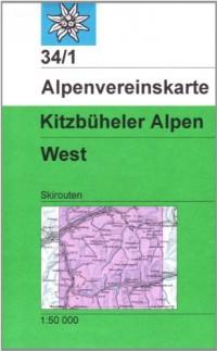 Carte de randonnée ski : Kitzbuheler Alpen Westliches