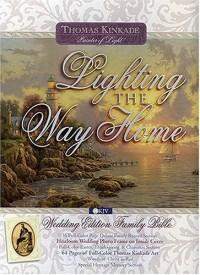 Thomas Kinkade Lighting the Way Home Family Bible: New King James Version, Wedding Edition, White Bonded Leather