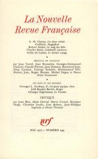 La N.R.F., numéro 293, mai 1977