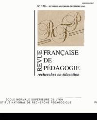 Revue Française de Pedagogie, N  173/2010
