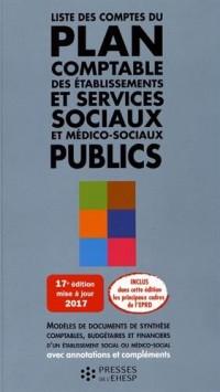 Liste des comptes du plan comptable des ESMS publics