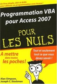 Programmation VBA pour Access 2007