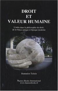 Droit et valeur humaine : L'autre dans la philosophie du droit, de la Grèce antique à l'époque moderne