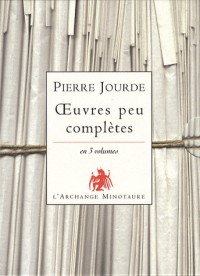 Oeuvres peu complètes en 3 volumes