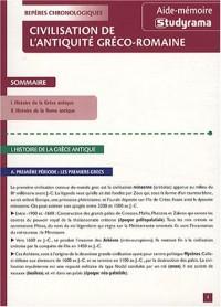 Civilisation de l'Antiquite Greco-Romaine