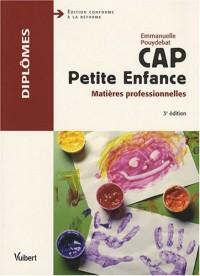 CAP Petite Enfance : Matières professionnelles
