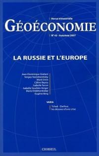 La Russie et l'Europe (N.43-Automne 2007)