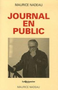 Journal en public