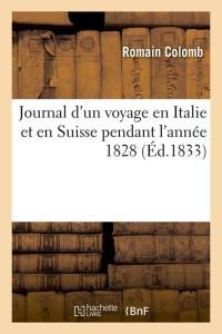 Journal d un Voyage en Suisse  ed 1833