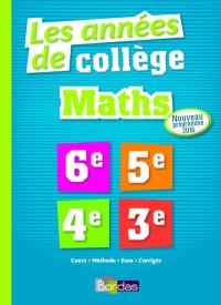 Les Années de Collège Maths Tout pour Réussir