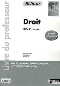 Droit Bts 1e Annee (Pochette Reflexe) Professeur2 011