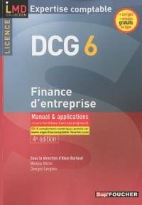 Finance d'entreprise DCG 6 : Manuel & applications 2010-2011
