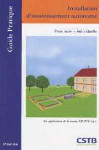 Installation d'assainissement autonome : Assainissement pour maison individuelle