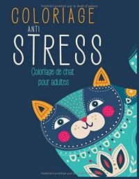 Coloriage Anti-Stress: Coloriage de Chat pour Adulte
