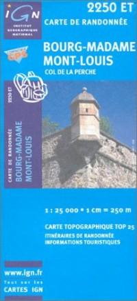 Carte de randonnée : Bourg Madame - Mt-Louis, N°2250 ET