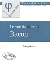 Le vocabulaire de Bacon