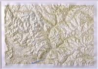 Carte en relief : Écrins - Queyras 77 X 108