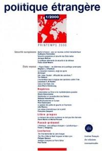 Politique étrangère 1/2000 : securite europeenne  etats voyous (2294003349)