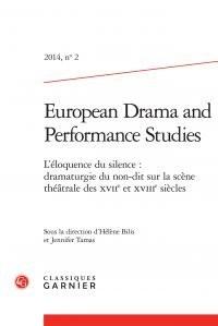 European Drama and Performance Studies, N°2, 2014 :