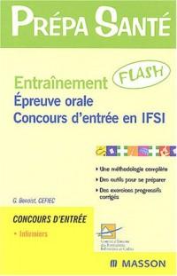 Entraînement Flash : Épreuve orale - Concours IFSI