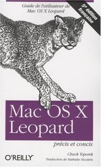 Mac OS X Léopard : Précis et concis