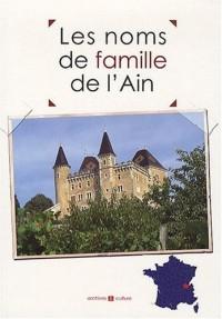 Les noms de famille de l'Ain