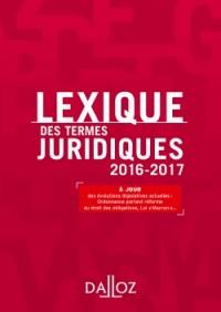 Lexique des termes juridiques 2016-2017 - 24e éd.