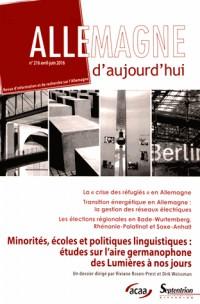 Ecole et minorités dans les pays allemands 18e-21e