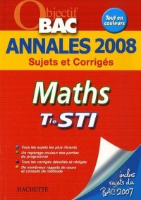 Annales 2008 Tle STI Maths