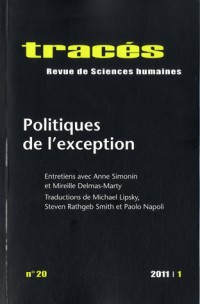 Tracés N° 20 : Politiques de l'exception