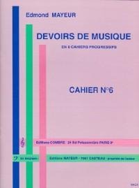 Devoirs de musique cahier 6
