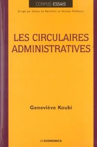 Les circulairesadministratives