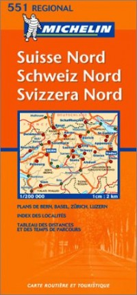 Carte routière : Suisse Nord, N° 11551