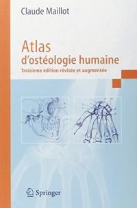 Atlas d'ostéologie humaine. 3ème édition