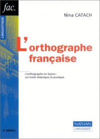 L'Orthographe française