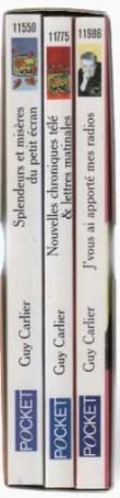 Guy Carlier Coffret En 3 Volumes: Splendeurs Et Misères Du Petit Écran -Nouvelles Chroniques Télé Et Lettres Matinales -J'vous Ai Apporté Mes Radios
