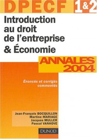 DPECF, numéros 1 et 2 : Introduction au Droit de l'entreprise et Économie