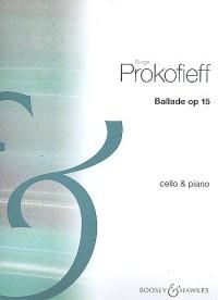 Ballade Op 15 pour violoncelle et piano