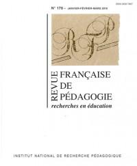 Revue Française de pédagogie, N° 170, janvier-févr :
