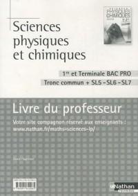 Sciences physiques et chimiques 1e et Tle Bac pro Tronc commun + SL5-SL6-SL7 : Livre du professeur