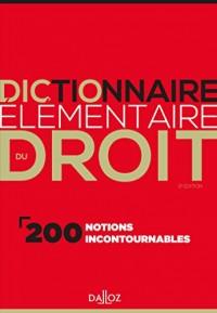 Dictionnaire élémentaire du droit - 2e éd.