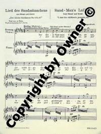 Lied des Sandmännchens - 'Der kleine Sandmann bin ich' aus 'Hänsel und Gretel' - basse voix et piano - BSS 25825