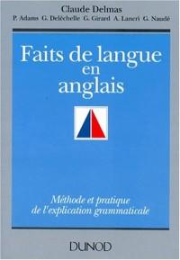 Faits de langue en anglais