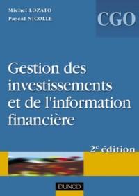Gestion des investissements et de l'information financière - Processus 4 et 5 : Manuel