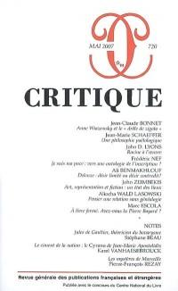 Critique, N° 720