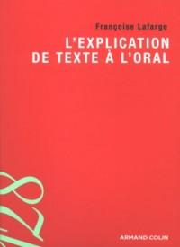 L'explication de texte à l'oral