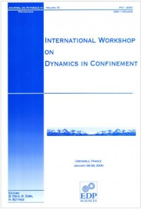 Internatioanl Workshop on Dynamics in Confinement